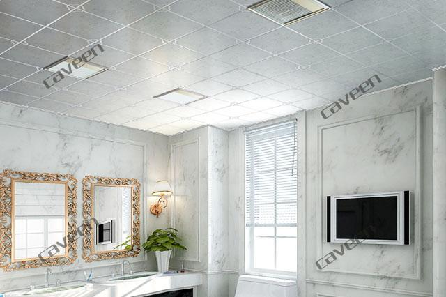 Подвесной кассетный потолок в ванной