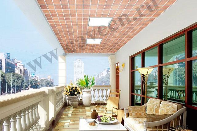 Подвесной кассетный потолок на балконе